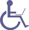 Picture of Disability icon with Laptop